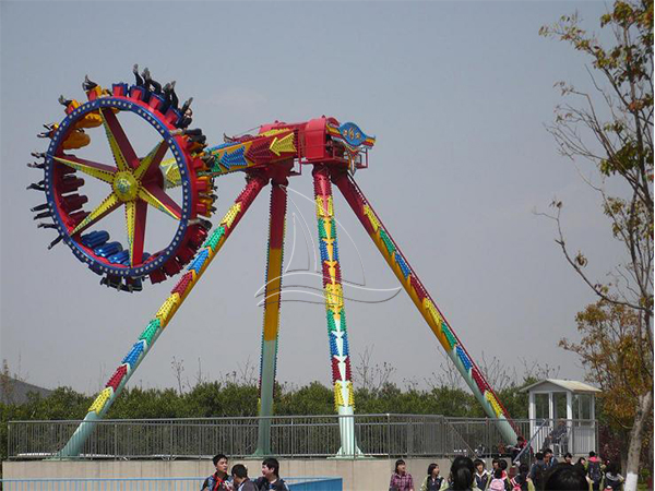 Kazakhstan customer came for carnival rides